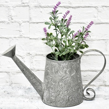 Top Selling Farmhouse Decor Self Watering Pot, New Product Ideas 2019 Galvanized Decor Pots For Plants, Pot De Fleur;
