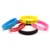 custom printing silicone bracelet wristband debossed  fashionable