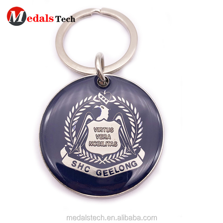 Cheap customized metal black nickle charm souvenir  keychains