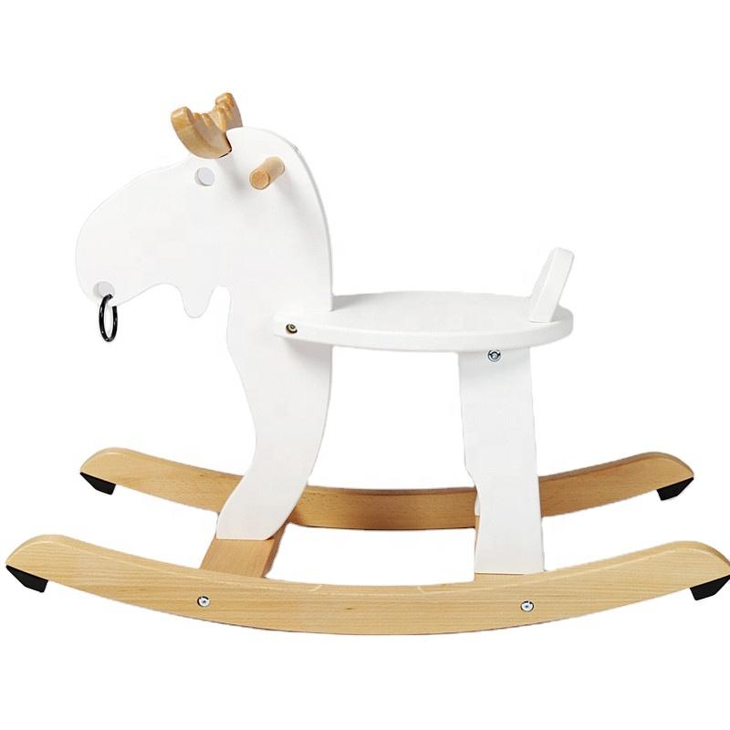 ファッション 2020 子供のための印刷のおもちゃセットロッキング馬木製子供のトロイの木馬