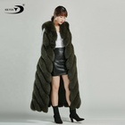 Waistcoat Fur Fur Waistcoat Waistcoat Strip Coat Winter Temperament 2020 New Extra Long Overcoat Fox Fur Vest