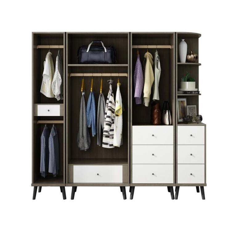 Wooden Modern Wardrobe Bedroom Simple Wardrobe Accessories Set