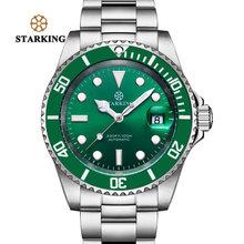 STARKING, мужские часы, водостойкие, горячий зеленый призрак, часы, модные механические часы, часы с автоматической датой, светящиеся наручные ч...(Китай)