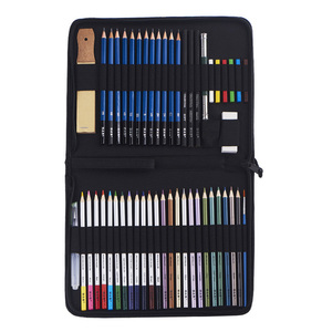 51pcs sketching drawing watercolor pencils art set