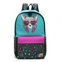 2019 Korean Style Fashion Womens Backpack Wholesale Girls Cool Cat Backpack for School