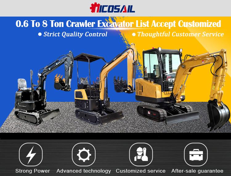 I prezzi per la vendita a buon mercato mini escavatore mini giardino escavatore idraulico crawler piccolo digger joystick escavatore prezzo