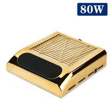 Маникюрный пылесос, мощный вентилятор для ногтей, инструменты, 80 Вт, всасывающий, профессиональный, подходит для маникюрного салона, пылесб...(China)