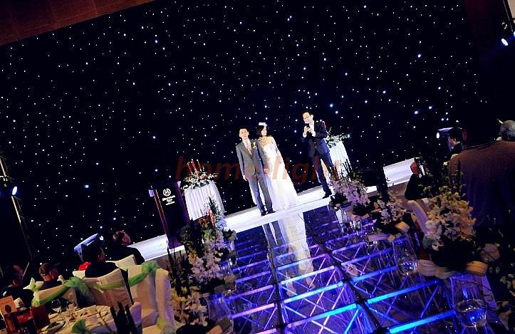 4*7m Wedding Decoration Velvet White Color Lighting Cloth LED Star Curtain for Disco Party