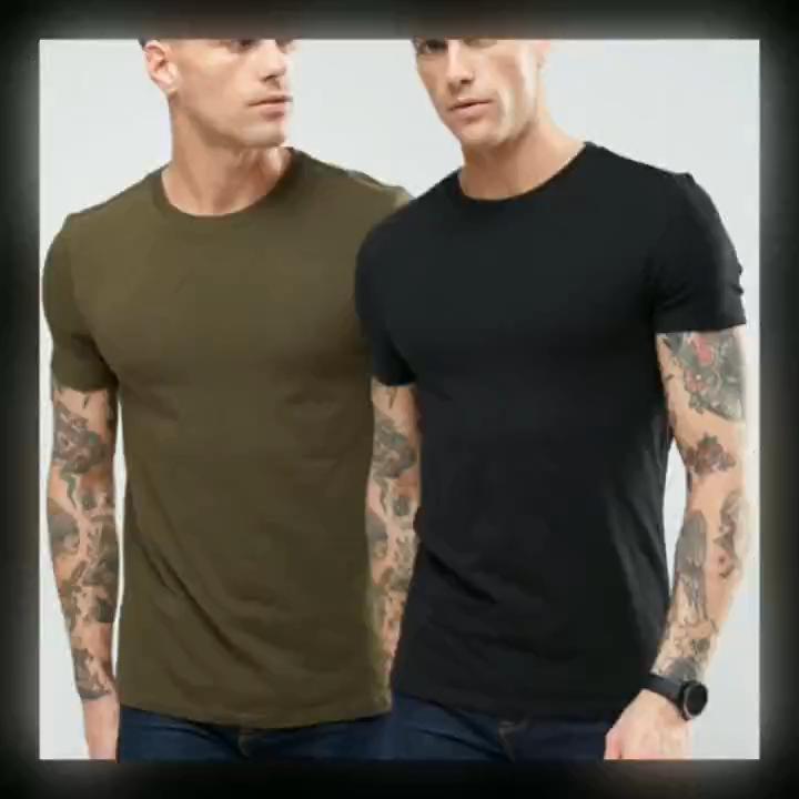 Venta al por mayor 95% algodón y 5% elastán. Deportes ajustada de los hombres de impresión T camisa