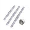 Dumbbell Accessories Spinlock Bar Rubber/Chrome Durable Spinlock Dumbbell Barbell