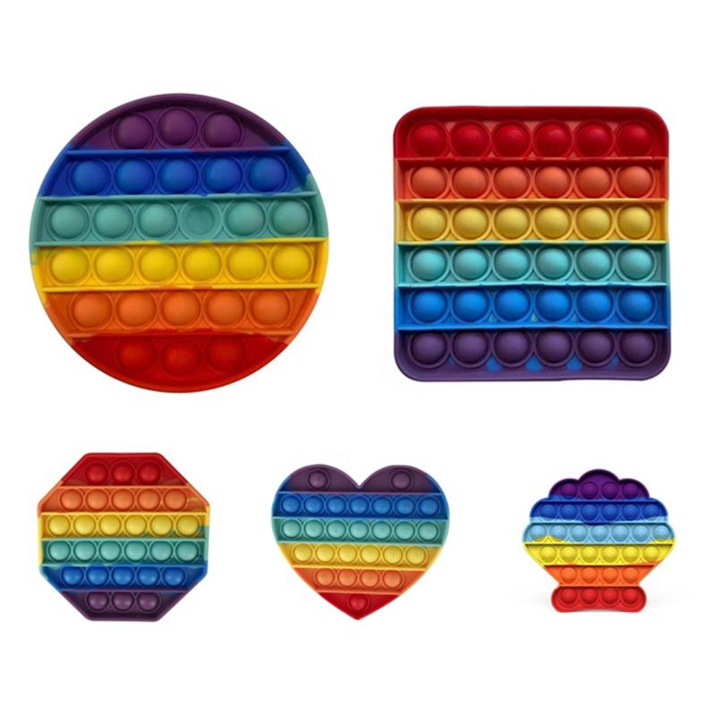 push pop pop bubble ensory fidget toy,100 Pieces, Purple/green/yellow/orange