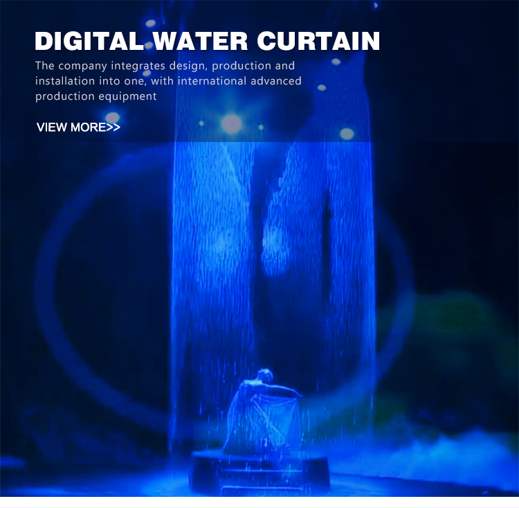 Outdoor indoor hanging luxurious wedding decoration digital water curtain