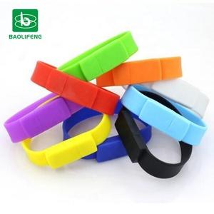 Bulk business usb bracelet 8GB 16GB 32GB 64GB, bracelet usb flash drive with logo as promotion/business gift