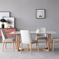 modern round marble dining table set for sale