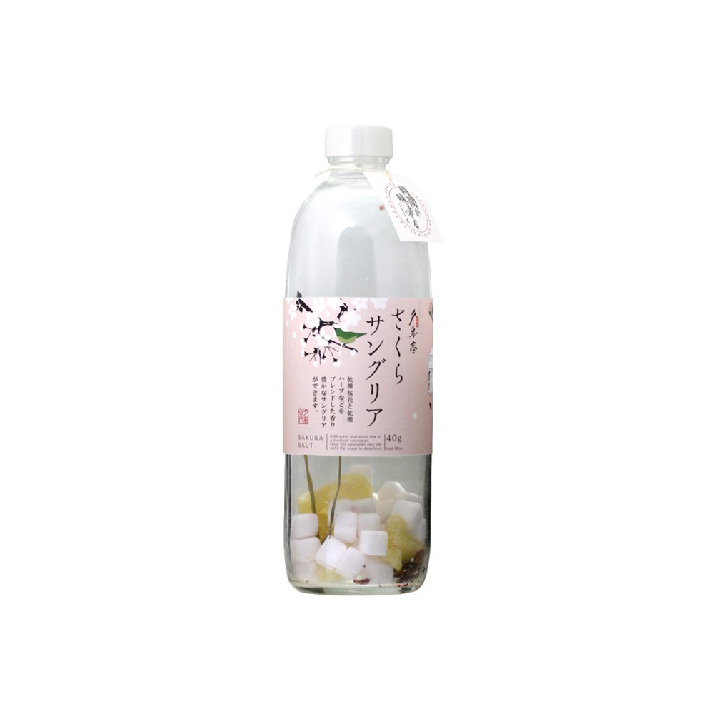 Japanese One Year Shelf life Sakura Sangria Pink Bulk Glass Bottle Salt
