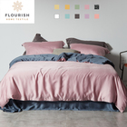 Bedding Cotton Sheets Flourish Luxury Hotel Home Summer Bridal Cotton Copper Fluffy Full Twin Queen Bedding Sheet Cover Set