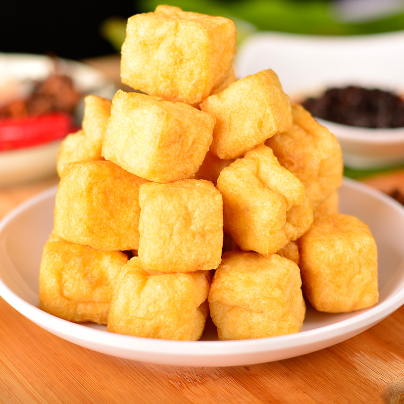 Fried tofu grilled tofu slices Yangzhou specialty