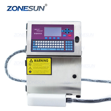 Zonesun Glas Metaal Staal Plastic Pvc Doos Batch Nummer Logo Mark Kan Datum Codering Inkjet Printer Digitale Code Printing Machine