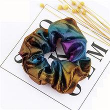 Корейский женский ободок для девочек, галстук для волос в полоску, женские резинки для хвоста, Женский держатель, веревка с принтом ананаса, ...(Китай)