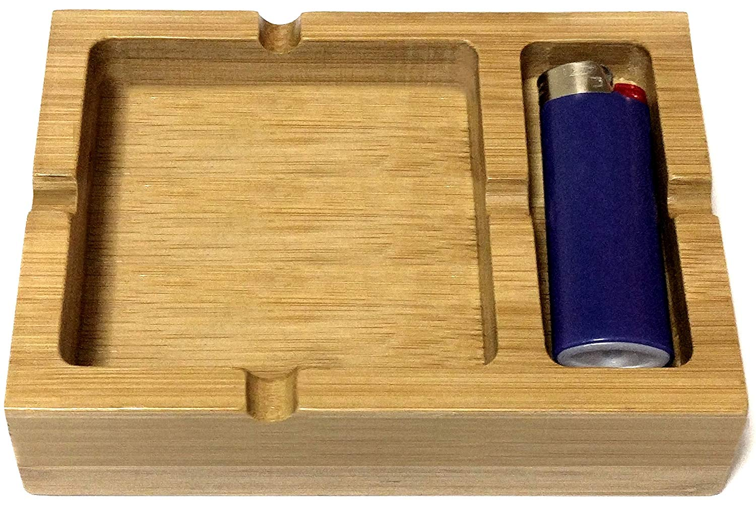 bamboo Ashtray with Space for Your Lighter