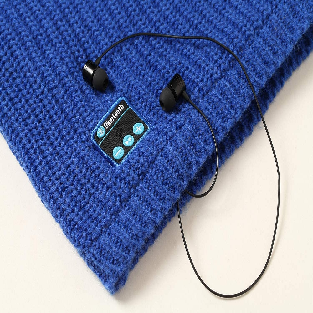 Dual Layered Knitted Music Neck Warmer Winter Cold Protection Windproof Warm Winter - idealBuds Earphone | idealBuds.net