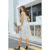 Newly Trendiest Hot Sales Square Collar Sleeveless Knee-Length Woman Ladies Sexy Casual Dresses