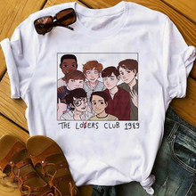 Винтажная Готическая летняя футболка с принтом Loser Lover, мягкая эстетичная футболка для девочек, женские футболки Harajuku, клубная одежда(China)