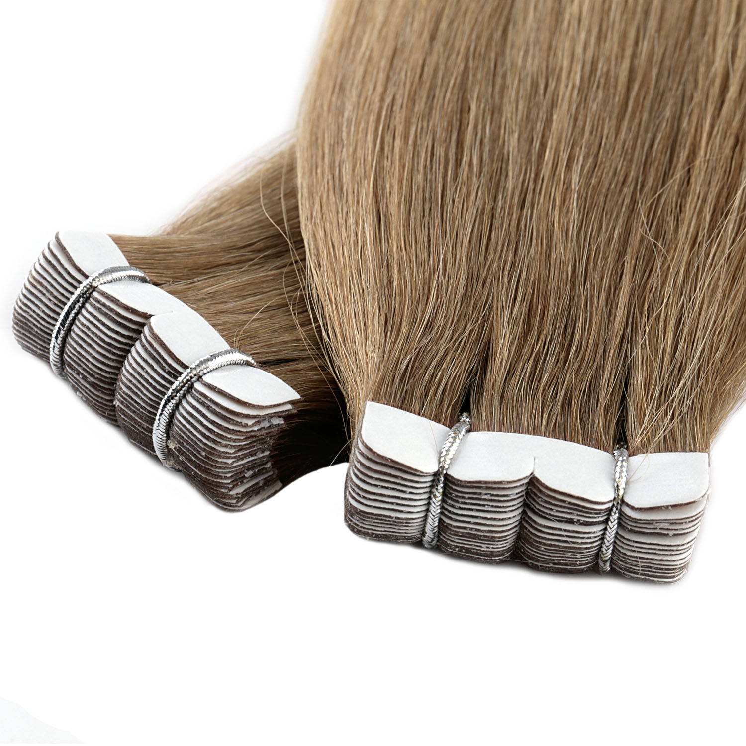 Vlasy Brazilian Real <strong>Human</strong> Hair Patch Mini Tape Hair Extension <strong>Human</strong> In Hair Extensions