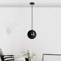 Zhongshan Modern indoor living room nordic black pendant ceiling lamps home decor pendant lighting