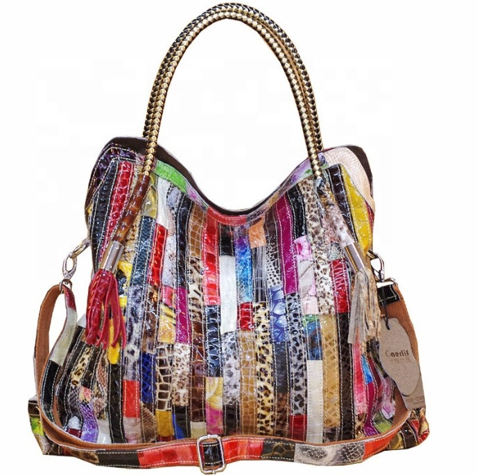 Colorful Vintage Womens Soft <strong>Genuine</strong> <strong>Leather</strong> Shoulder Handbags <strong>Hobo</strong> <strong>Bag</strong> Designer Boston Tote <strong>Bags</strong> Large Purses Cross-boby Purses