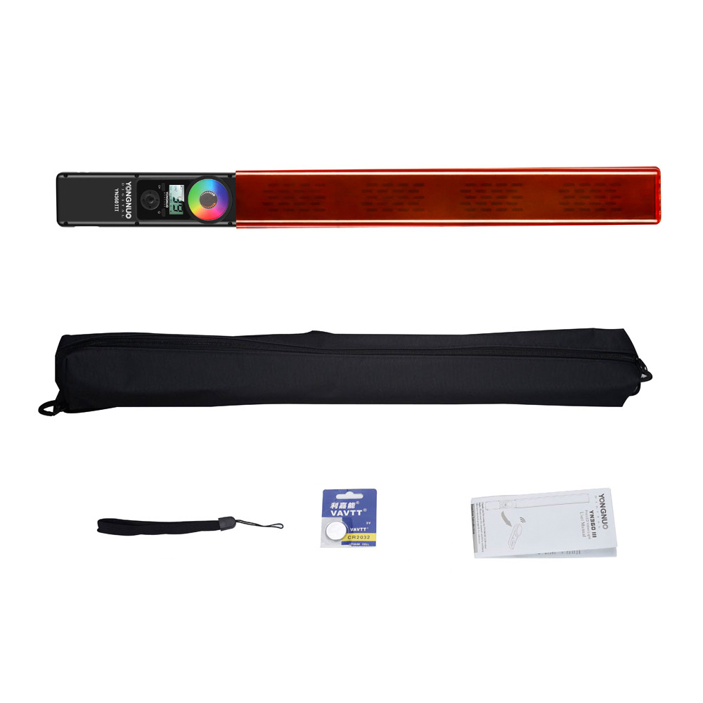 YONGNUO YN360 III YN360III Handheld LED Video Light Touch Adjusting Bi-colo 3200k to 5500k RGB Color Temperature with Remote
