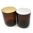 FJ010 long burning time 60hours 400g wax filled paraffin personalized amber jar candle scented qith lid wholesale