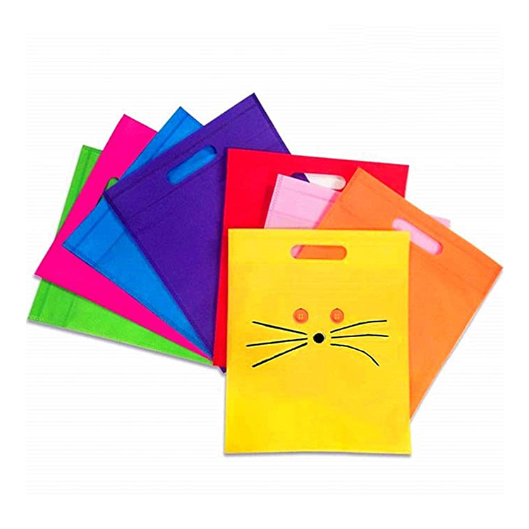 Rongmei Trending Hot Products Cheap Portable Custom Logo Printed Plain Design Non Woven Die Cut Shopping Bag