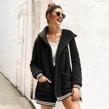 Хит продаж, плюшевое пальто, Ретро стиль, флисовое теплое пальто, Осень-зима, женское однотонное плюшевое пальто, повседневное, большой разм...(Китай)