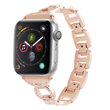 Hot 22mm gold color stainless steel watchband 42mm watch band metal strap for Apple watch