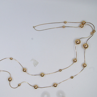 "women metal chain 48"" Jewelry CCB 2020 sexy gold necklace ladies necklace"