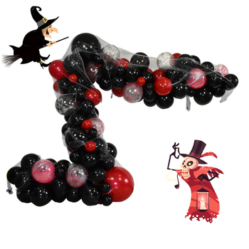 Red and black themed balloons DIY balloons for Halloween balloon garland kit