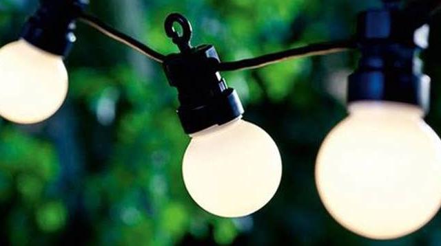 BSCI مصدق مصنع 8M 10 المصابيح في الهواء الطلق للماء G50 واضح البلاستيك ليد الدافئة الأبيض فيستون سلسلة أضواء للحديقة