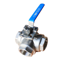 <span class=keywords><strong>Port</strong></span> Penuh CF8M Keperakan SS304 SS316 1000 Wog Manual Stainless Steel 3-Way Ball Valve