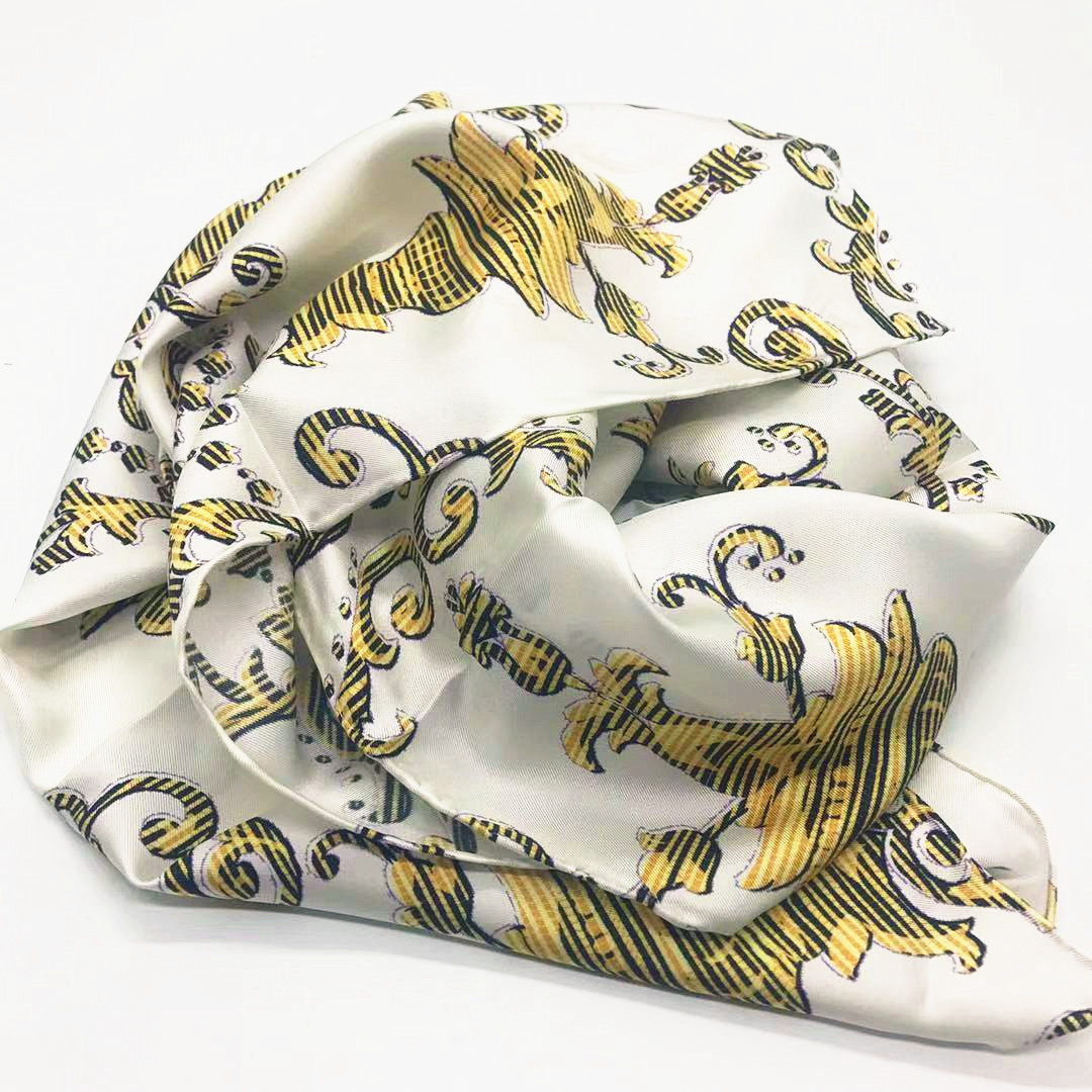 2017 FY Custom Printed Silk Twill for Square Scarves