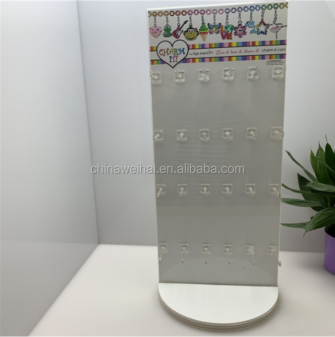 New Design Two Sides Acrylic Keychain Holder Display Stand