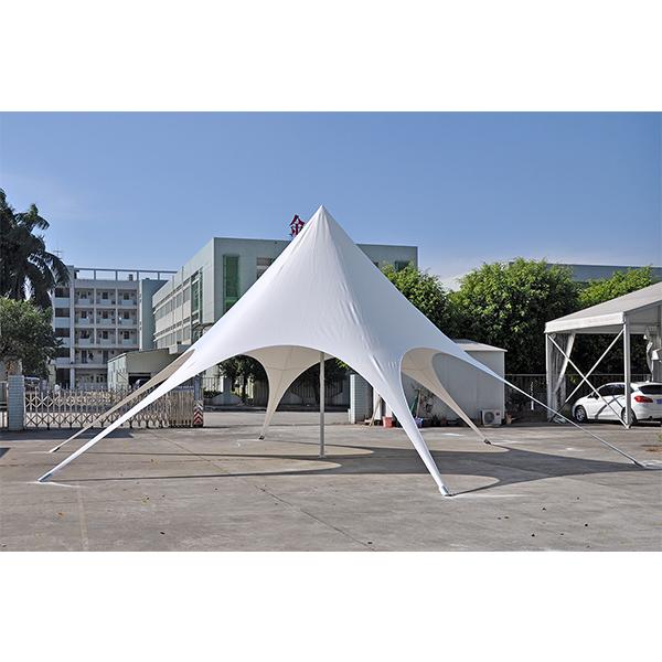 14m di diametro impermeabile singolo picco bianco della spiaggia di sun star ombra baldacchino tenda da campeggio tenda per eventi all'aperto