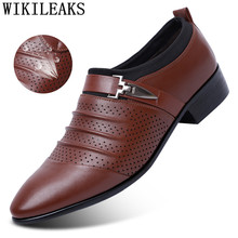 Мужские Формальные туфли-оксфорды с перфорацией, кожаные свадебные туфли, черные классические туфли-оксфорды, лоферы, 2020(China)