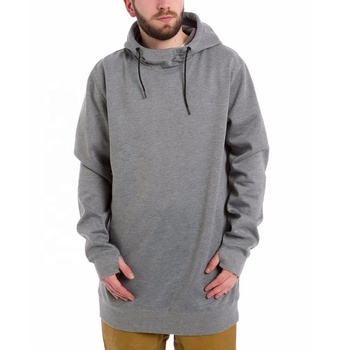 Custom Grey Color Thicker Fabric Tall Hoodies Men Snowboard Hoodies