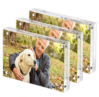 4x6 transparent acrylic photo frame magnetic frame
