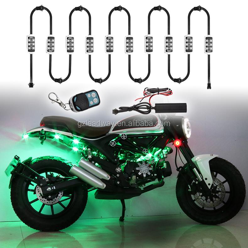 12pcs 언더 자동차 조명 네온 led 분위기 장식 바 조명 키트 스트립 5050 SMD 오토바이 Underbody 시스템 방수
