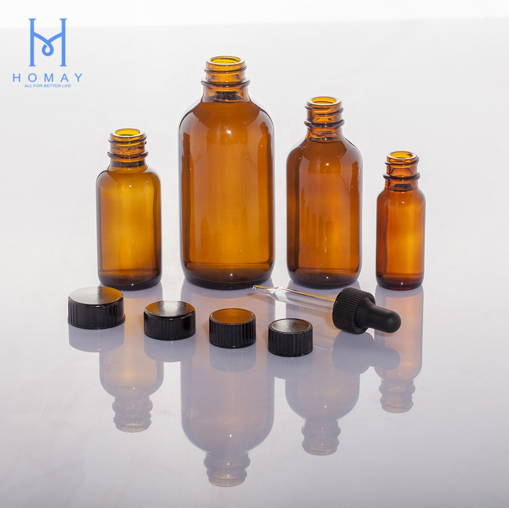 Hot Selling 0.5oz 1oz 2oz 4oz 8oz 16oz 32oz Clear Amber Blue Boston Round Essential Oil Glass <strong>Bottle</strong> G.P.I Finish