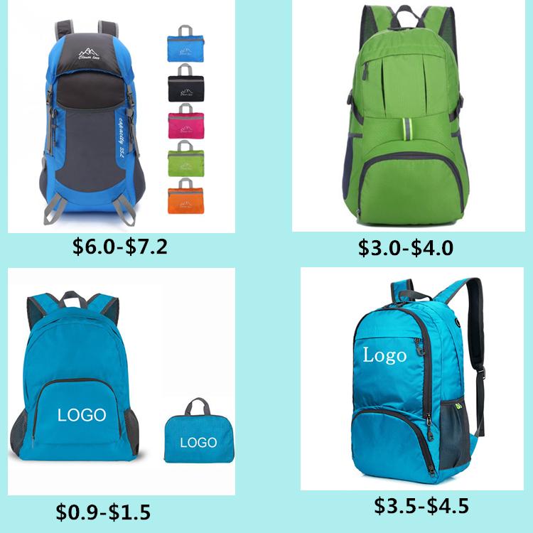 登山旅行ハイキングバックパック防水ナイロン旅行バッグライトポータブル折りたたみバックパック