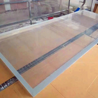 50mm -100mm cast acrylic glass sheet for swimming pool/fish tank