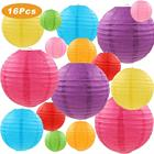 Colorful Paper Lanterns - Chinese Japanese Paper Hanging Decorations Ball Lanterns